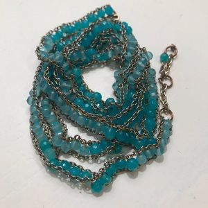 Jewelry - Turquoise two toned wrap bracelet